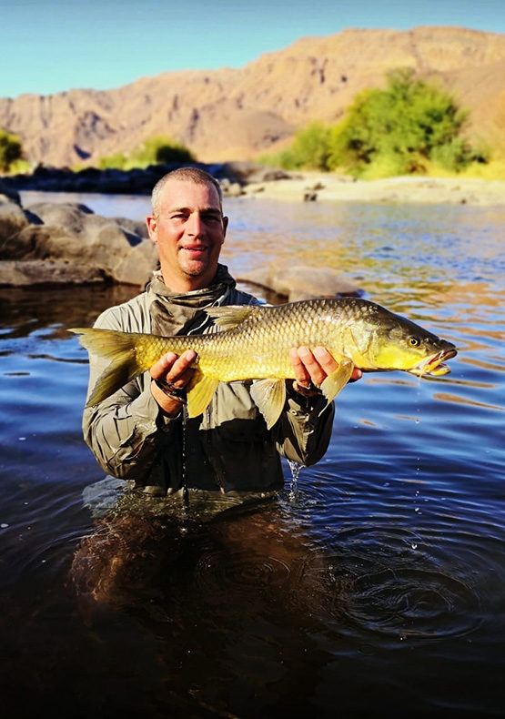 largmouth yellowfish caught in the orange river
