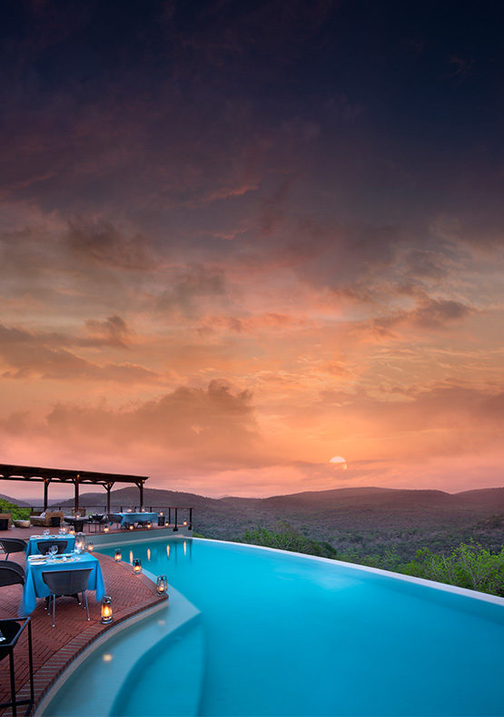african sunset at phinda mountain lodge