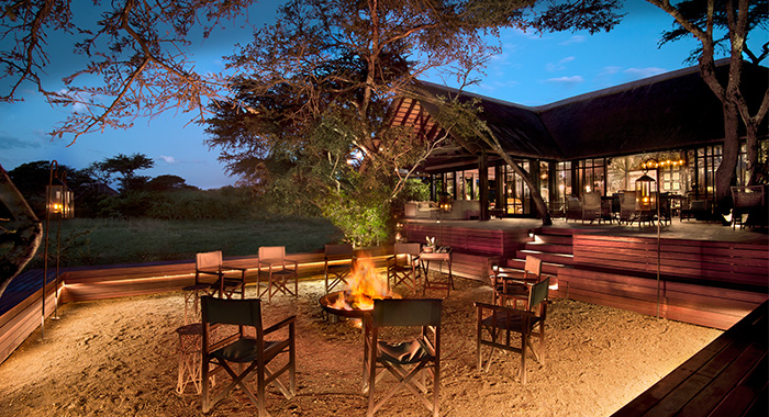 fire pit at phinda vlei lodge