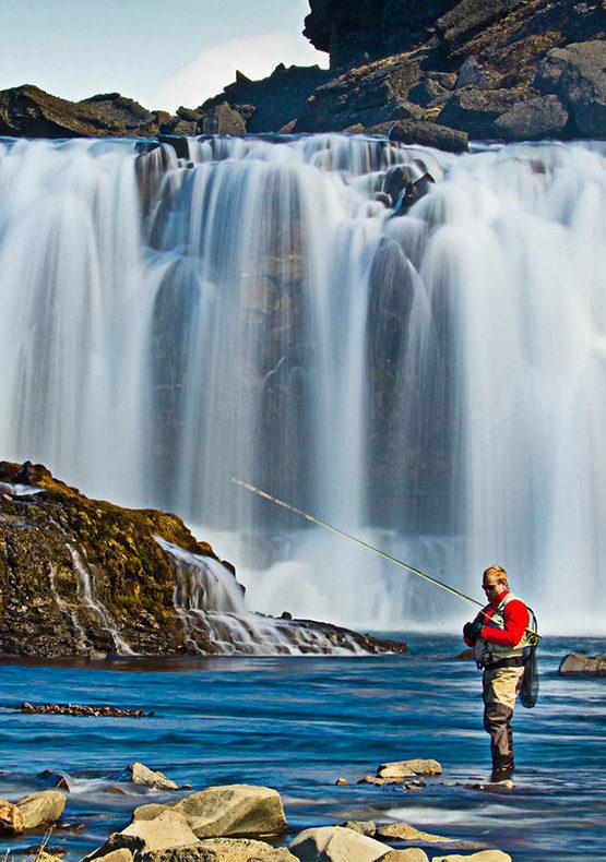 Fly fishing highland rivers iceland